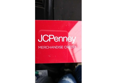 JC Penney gift card